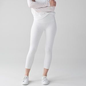 Lululemon Wunder Under White Hi Rise Crops